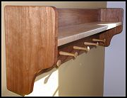 Cherry and Maple Wall Mounted Coat Rack